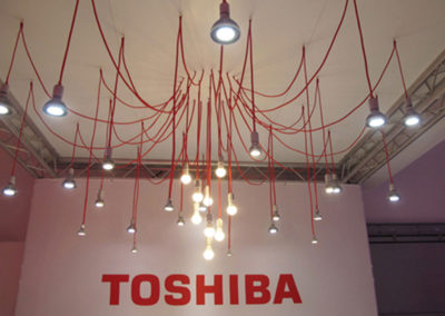Architectural Lighting Magazine 25th year event Toshiba Booth